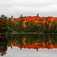 Not a breath of breeze to disturb the reflected fall colors.