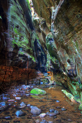 Thumbnail image ofMulti-colored Mickey Creek gorge.