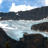 Crowfoot glacier in the Canadian Rockies.