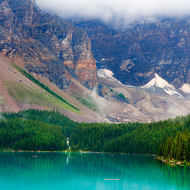 Low cloud over Moraine Lake.