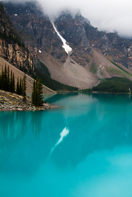 Thumbnail image ofReflection of the last snow in Moraine Lake.