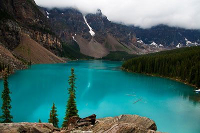 Thumbnail image ofLow clouds over Moraine Lake.
