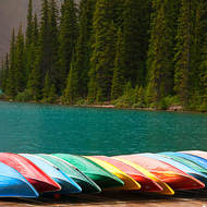 Ready for a paddle on Moraine Lake.