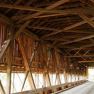 Inside the Patrick Owens Covered bridge.