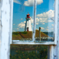 Reflection: Mulholland Point lighthouse.