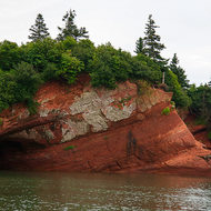 Sea caves on the Bay of Fundy.
