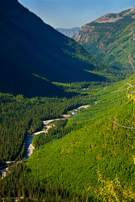 Thumbnail image ofThe valley of McDonald Creek from Going-to-the-Sun...