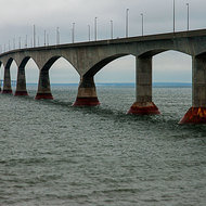 Confederation Bridge linking Prince Edward Island and New Brunswick.