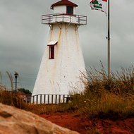 Lighthouse, non-functional, at Borden-Carleton.