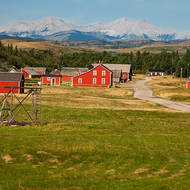 Bar U ranch nestles at the foot of the Canadian Rockies.