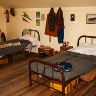 Ranchhand accommodation at the Bar U ranch.