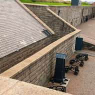 Inside the ramparts at the Halifax Citadel.