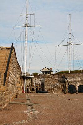 Thumbnail image ofSignal masts at the Halifax Citadel.