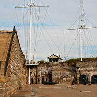 Signal masts at the Halifax Citadel.