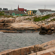 Peggy's Cove village from the lighthouse.