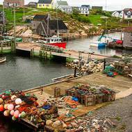 The small fishing port at Peggy's Cove.