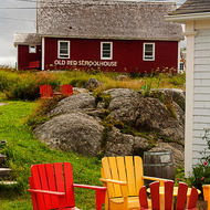 Old Red Schoolhouse at Peggy s Cove.