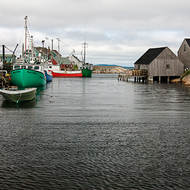 The small fishing port at Peggy s Cove.