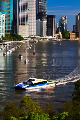 Thumbnail image ofCity Cat commuter transport on the Brisbane River.