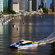 City Cat commuter transport on the Brisbane River.