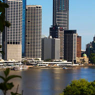 Downtown Brisbane and the Brisbane River.