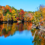 Fall colors on the Trent-Severn Waterway.