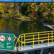 Going down. Lock 42 on the Trent-Severn Waterway.
