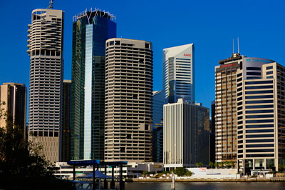 Thumbnail image of Downtown Brisbane across the Brisbane River from...
