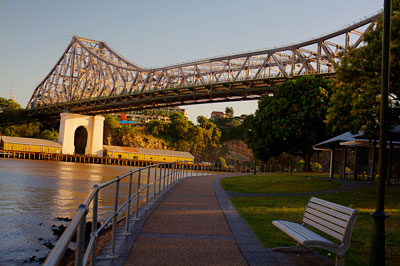 Thumbnail image of Old wharves on the northern side of the Brisbane...