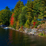 Fall colors on the Trent-Severn Waterway
