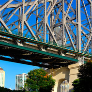 Southern weight bearing pier of the Story Bridge.