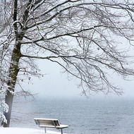 Lake outlook (bleak outlook?) over Kempenfelt Bay on Lake Simcoe.