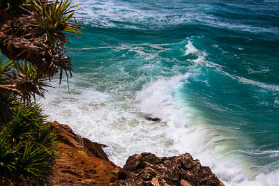 Thumbnail image ofRelentless roll of the sea past the headland.