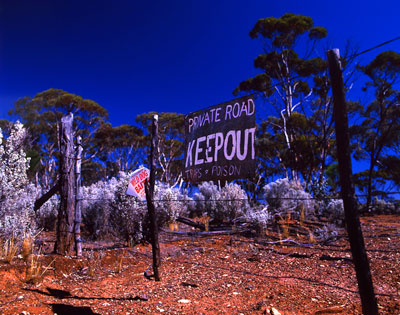 Thumbnail image of Keep out, poison laid. Pity, the grass looks so...