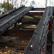 Well weathered abandoned loading ramp.