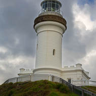 Cape Byron lighthouse on the easternmost point in Australia.
