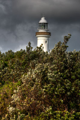 Thumbnail image ofA passing storm over Cape Byron lighthouse.