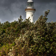 A passing storm over Cape Byron lighthouse.