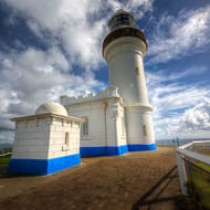 Cape Byron lighthouse, stands at the easternmost point of Australia.