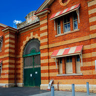 Front edifice of the Old Boggo Road jail.