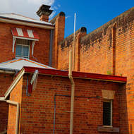 Chief Warden's quarters and front of the Old Boggo Road jail.