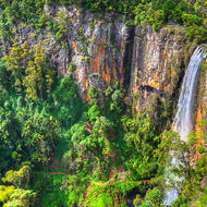 Purling Brook falls, a single plunge of over 100 metres.