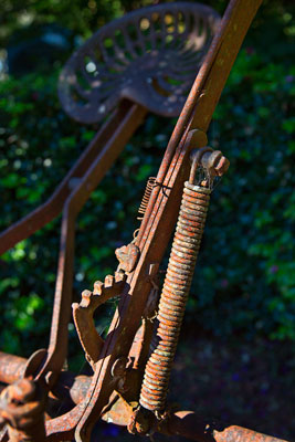 Thumbnail image ofHand brake, part of a horse drawn farm implement.