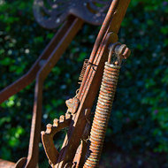 Hand brake, part of a horse drawn farm implement.