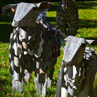 Goat family for sale at the Secret Garden gallery.