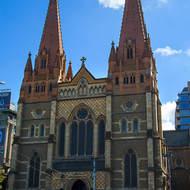 St Pauls cathedral, corner Flinders and Swanston streets.