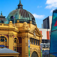 Flinders Street railway station.