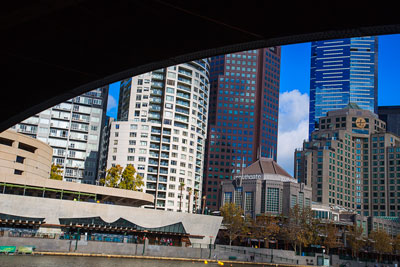 Thumbnail image of South bank of the Yarra River from under the Princes...