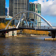 Pedestrian bridge over the Yarra River.