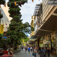 Queen Street mall in downtown Brisbane.